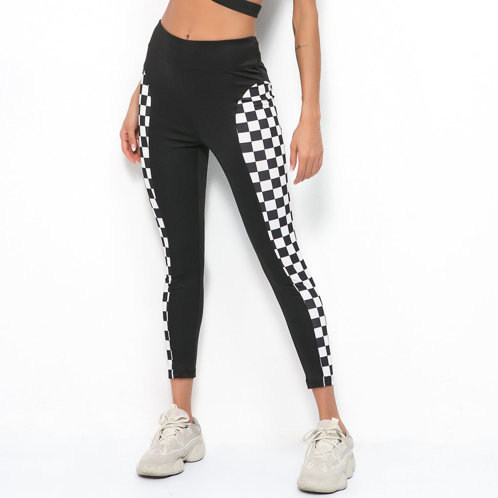 Sexy Black Two Tone Gym Work Our Yoga Pants Legging