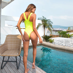 Sexy Neon Yellow Bodysuits