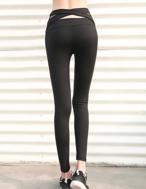 Sexy Strappy Detailing Sportswear Work Out Gym Legging