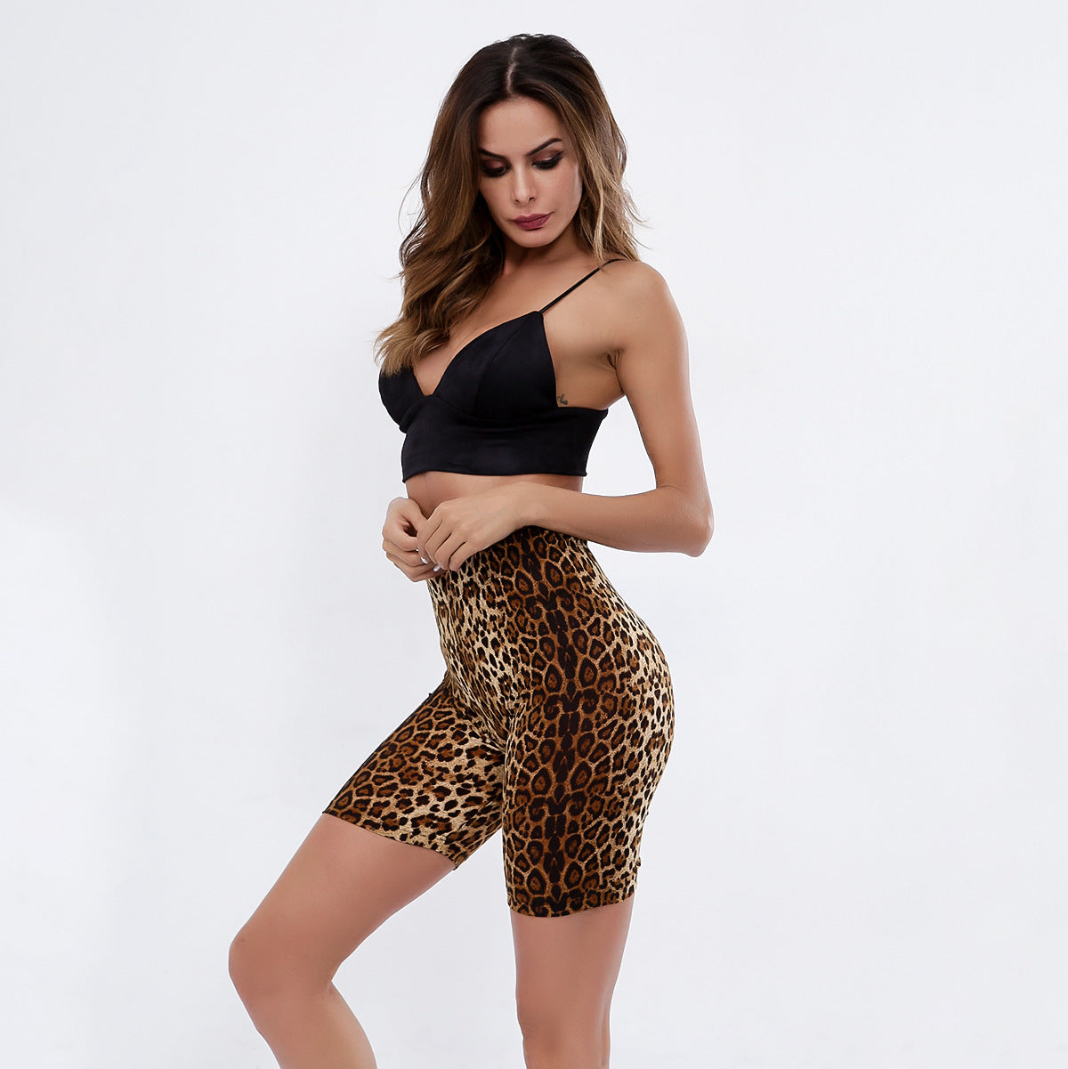 Sexy Leopard Gym Work Out Sportswear Shorts