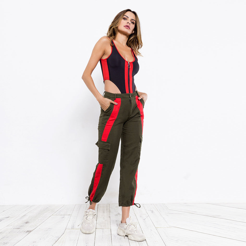Sexy Olive Two Tone Yoga Pants Legging