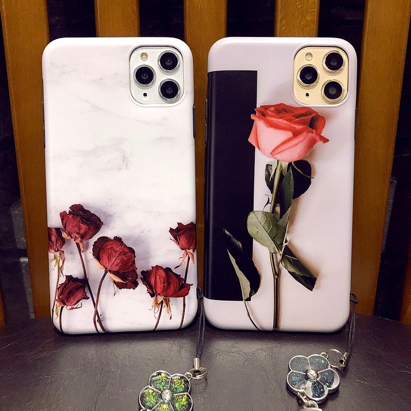 Cute Roses Soft Cover iPhone Case