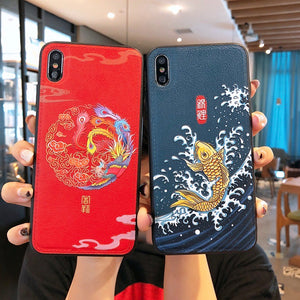 Cute Chinese New Year Style Prints iPhone Case
