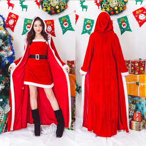 Comfy Stylish Long Sleeves Open Front Hoodie Waist Tie Christmas Costume