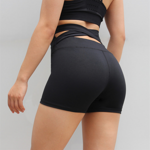 Sexy Black High Rise Bandage Cut Out Detailing Hot Shorts