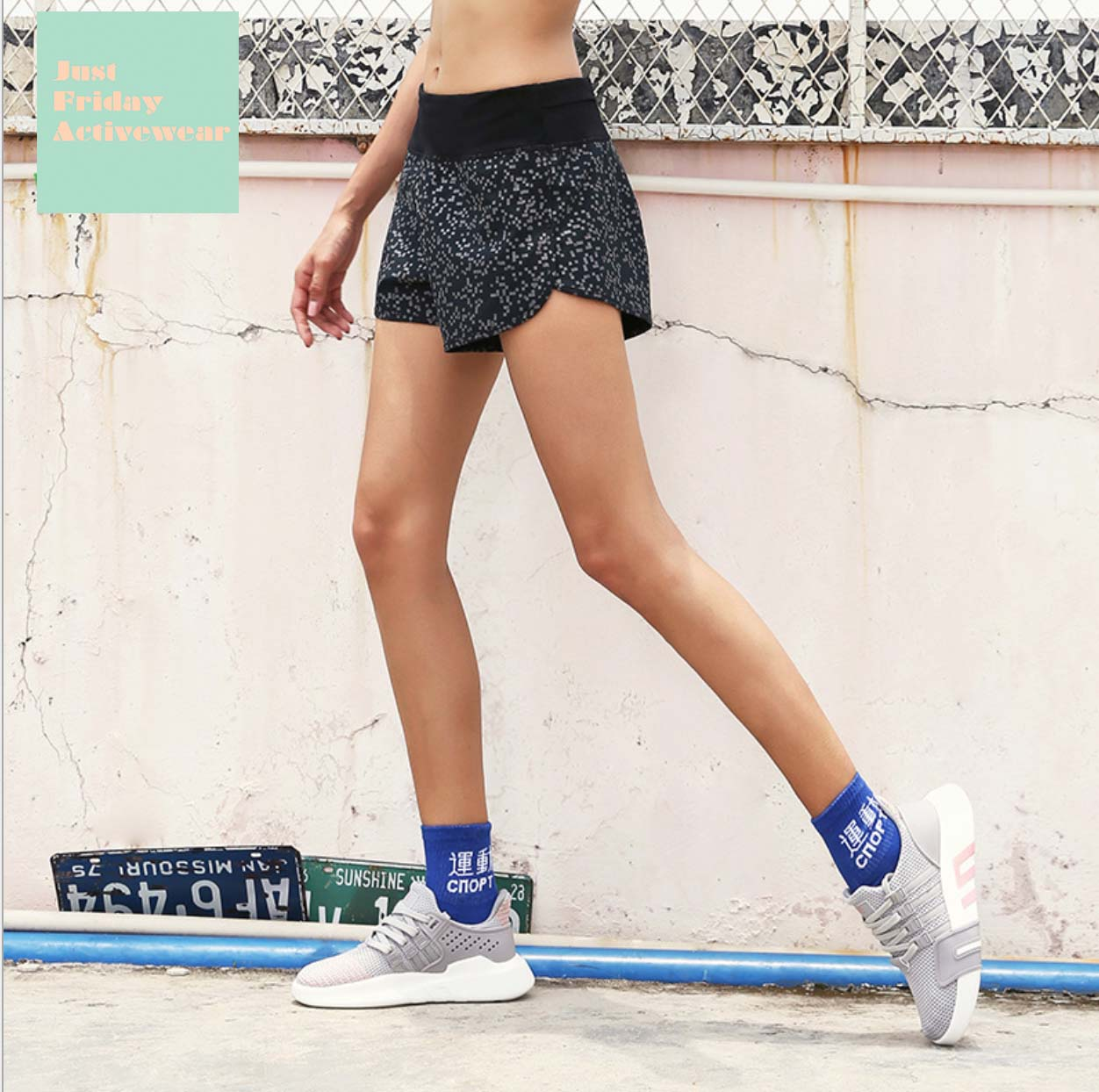 Sexy Mid Rise Waist Band Two Tone Mid Rise Waist Band Gym Wear Work Out Shorts