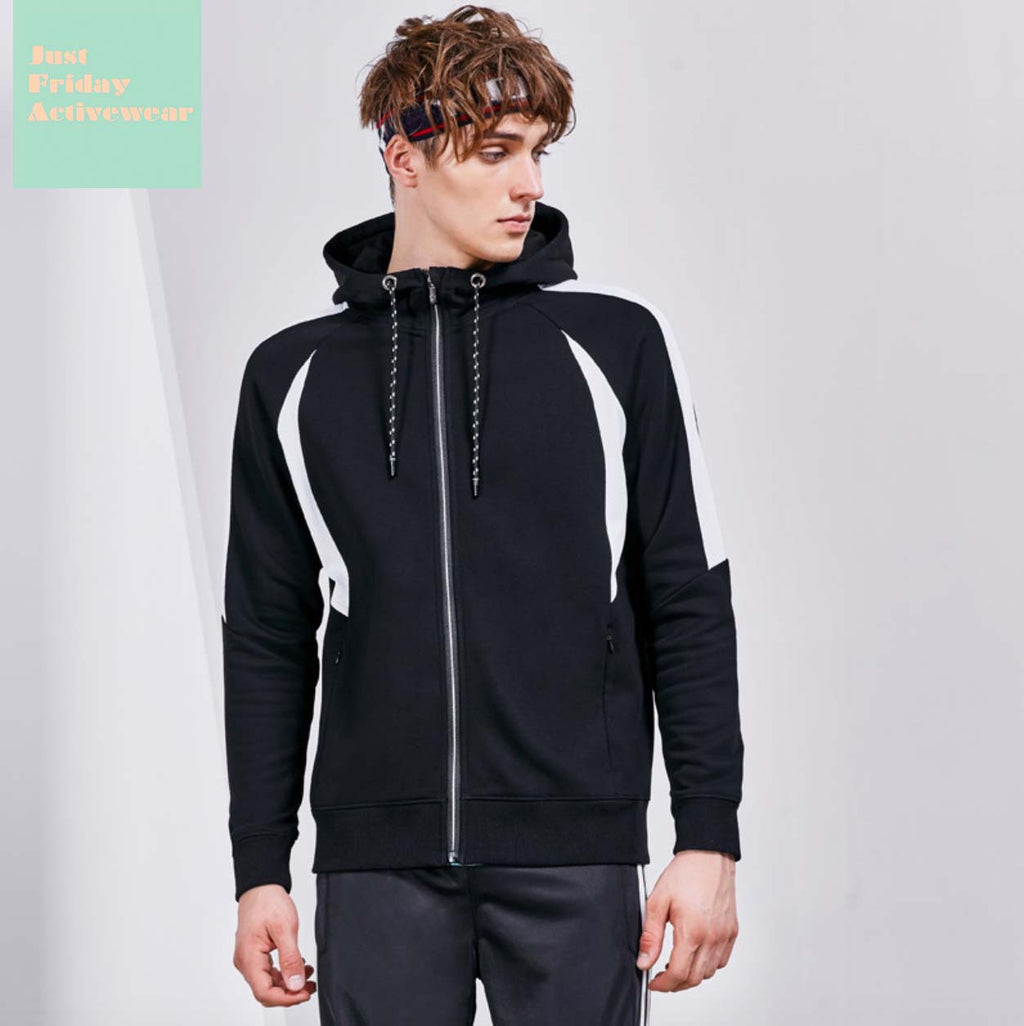 Comfy Causal Long Sleeves Two Tone Sportswear Gym Work Out Hoodie