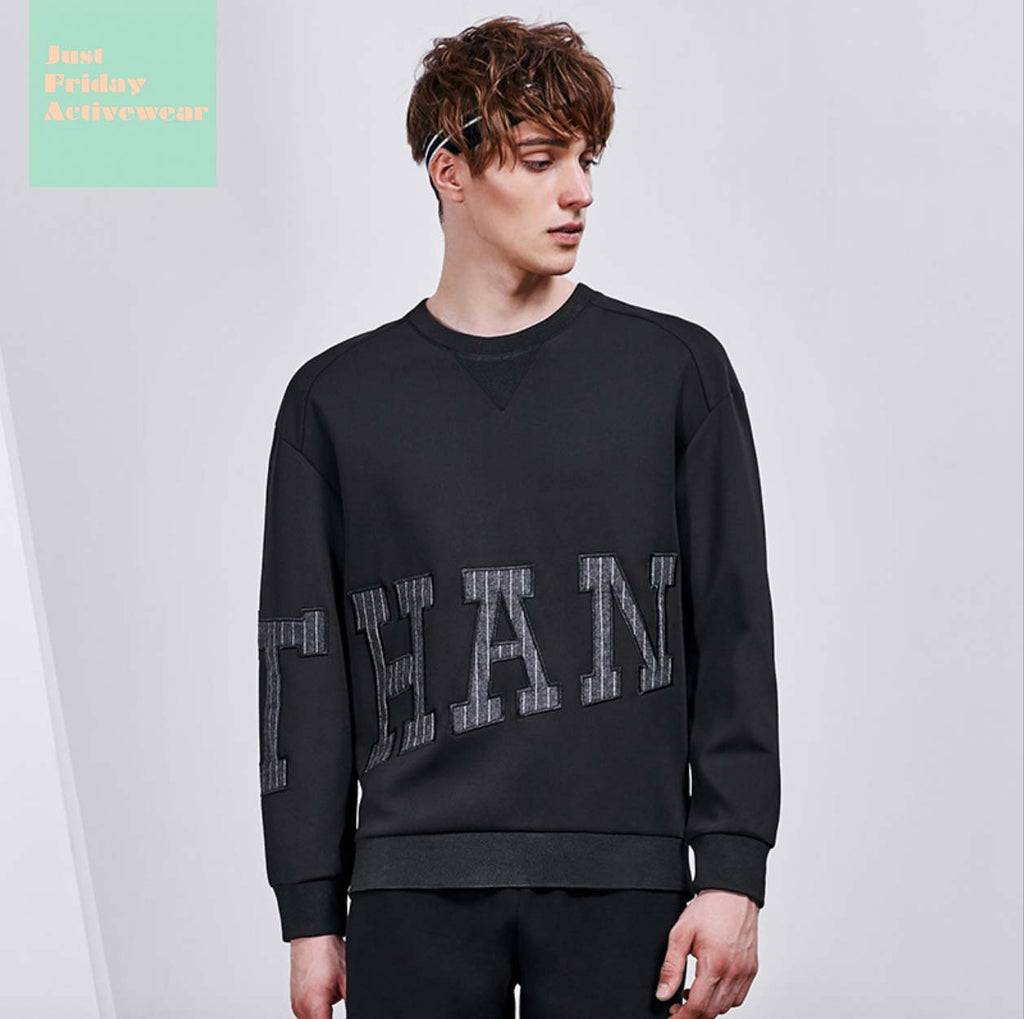 Stylish Round Neckline Prints Long Sleeves Mens' Sweatshirt