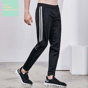 Comfy Black Two Tone Mid Rise Gym Work Out Mens' Pants