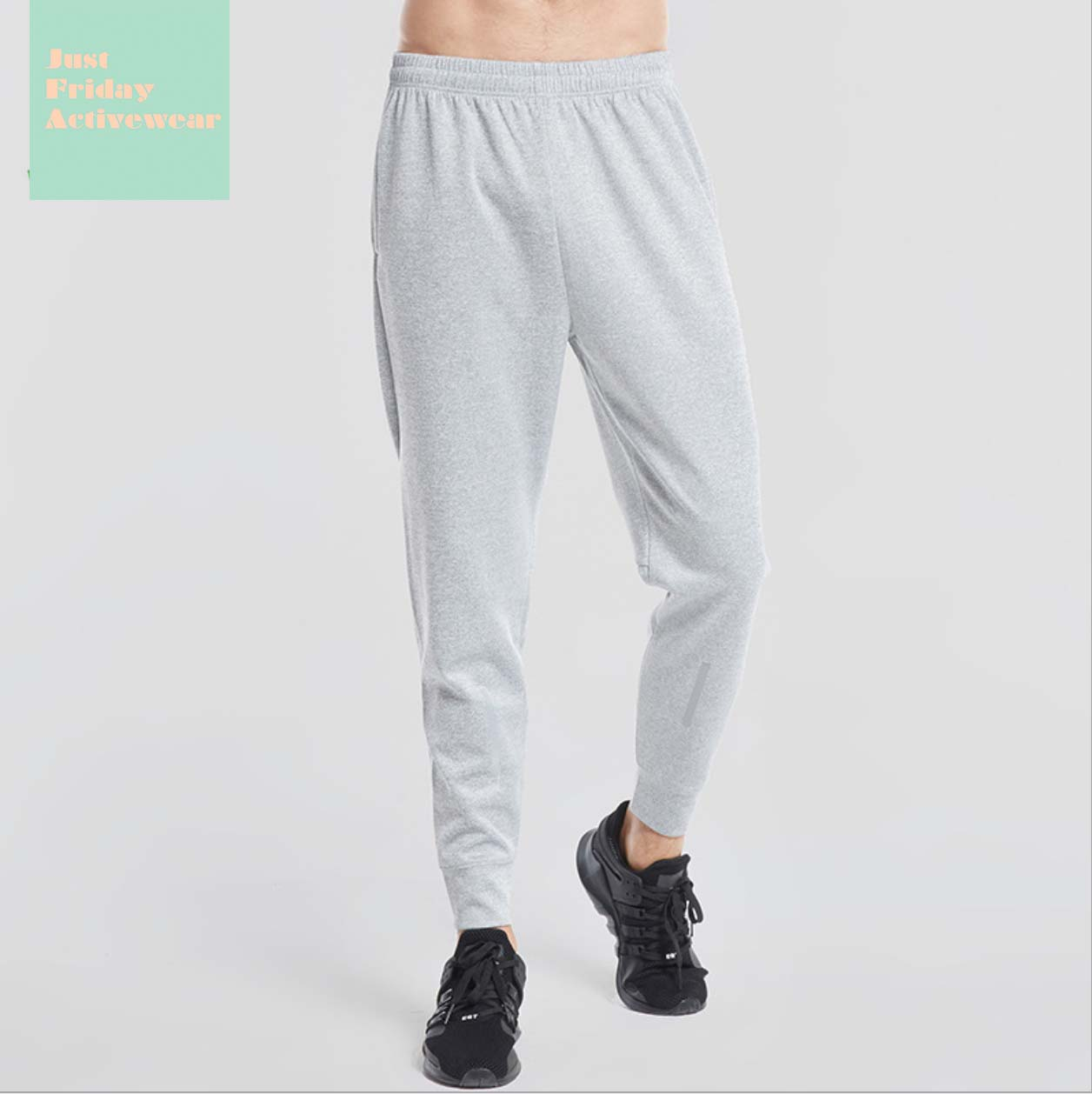 Comfy Mid Rise Zipper Detailing Gym Work Out Mens' Pants