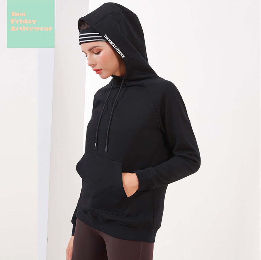 Sexy Black Crew Neckline Character Prints Long Sleeves Sportswear Work Out Hoodie