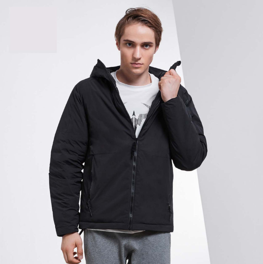 Comfy Black Stand Collar Long Sleeves Hoodie