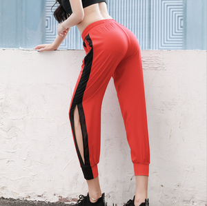 Sexy Side Split Detailing Two Tone Gym Work Out Sportswear Legging Yoga Pants