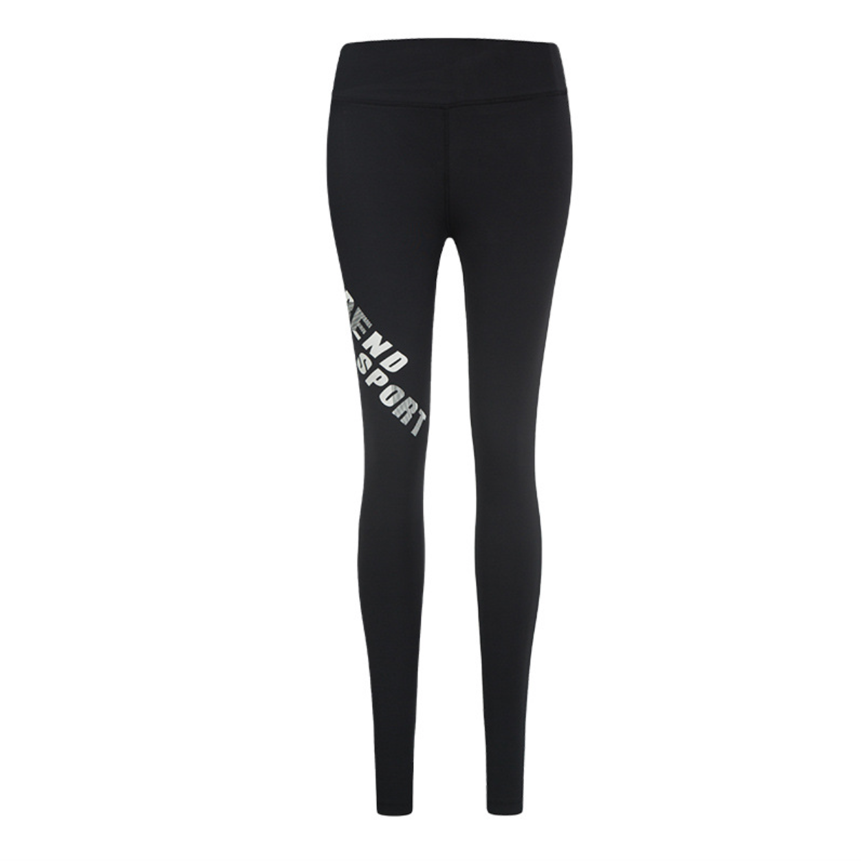 Sexy Black Character Prints Mid Rise Legging Yoga Pants