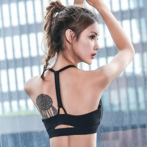 Sexy Round Neckline Cut Out Detailing Sports Bra
