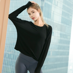 Sexy Round Neckline Long Sleeves Cut Out Detailing Sweatshirt