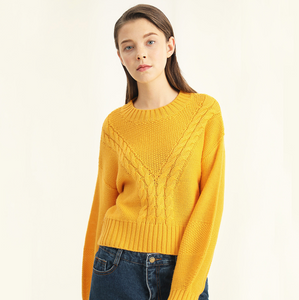 Sexy Round Neckline Long Sleeves Sweater