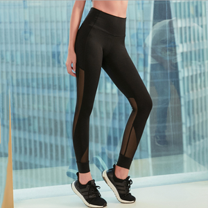 Sexy Mesh Detailing Work Out Yoga Pants Legging