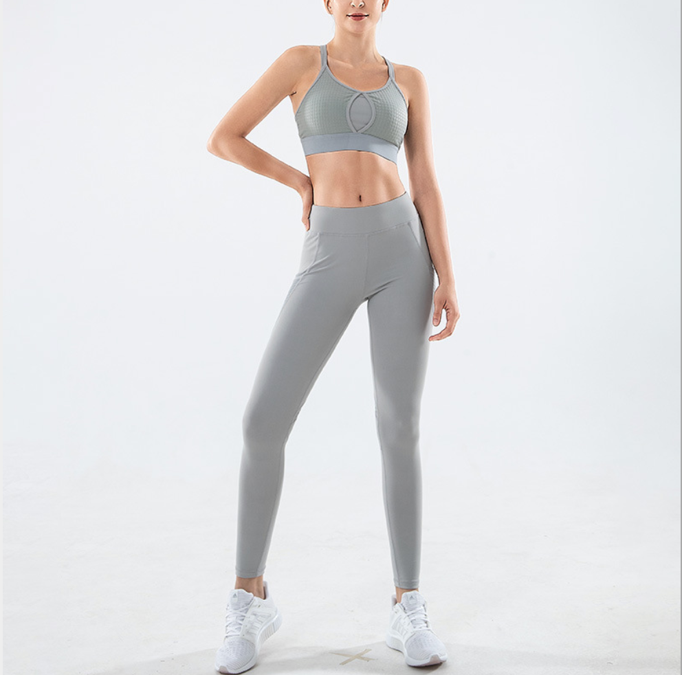Sexy Work Out Legging Yoga Pants Sports Bra Sportswear Set