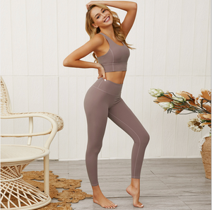 Sexy Cut Out Detailing Sports Bra And Legging Sportswear Set