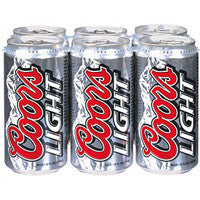 Coors Light 6pk cans