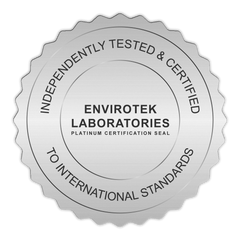 Envirotek certification seal water filtration;