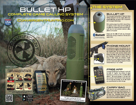 Convergent HP4000KIT Bullet HP Game Calling Kit