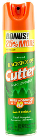 Cutter 53656 Backwoods Aerosol Insect Repellant Insect Repellent Mosquito, Gnat, Chigger, Tick, Biti