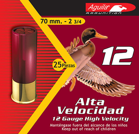 "Aguila 1CHB1204 Hunting 12 Gauge 2.75"" Lead 1-1/4 oz 4 Shot 25 Bx/ 10 Cs"