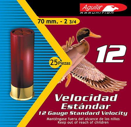 "Aguila 1CHB1218 Standard Velocity 8 shot 12 Gauge 2.75"" 1-1/8 oz 25Box/10Case"