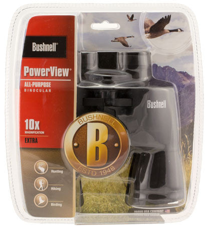 Bushnell 131056C Powerview 10x 50mm 341 ft @ 1000 yds FOV 10mm Eye Relief Blue Rubber Armor