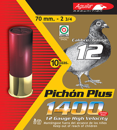 "Aguila 1CHB1296 Hunting 12 Gauge 2.75""  1-1/4 oz 8 Shot 10 Bx/ 25 Cs"
