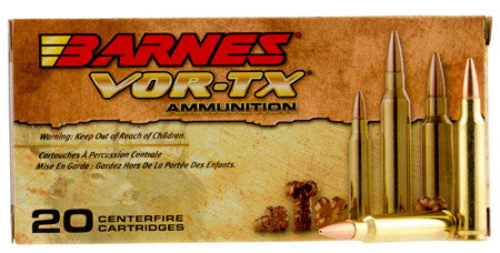Barnes Bullets 31190 VOR-TX 223 Remington/5.56 NATO 62 GR TSX Boat Tail 20 Bx/ 10 Cs