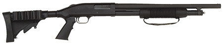 "Mossberg 50420 500 Pump 12 ga 18.5"" 3"" Black Synthetic Blued Finish"