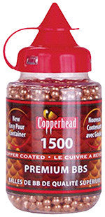 Crosman 0737 CopperHead BBs  .177  Copper-Coated Steel 1500 Carton