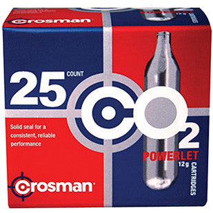 Crosman 2311 Powerlet CO2 Cartridges 12 Grams Stainless 25pk