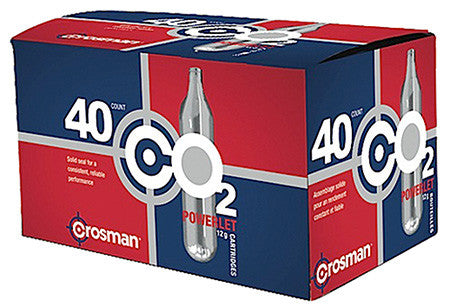 Crosman 23140 Powerlet CO2 Cartridges 12 Grams Stainless 40pk