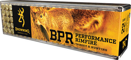 Browning Ammo B194122100 BPR Performance 22 Long Rifle 40 GR Lead Hollow Point 100 Bx/ 10 Cs