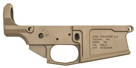 Aero Precision APAR308005C M5 308 Stripped Lower Receiver AR-15 AR Platform Multi-Caliber Flat Dark