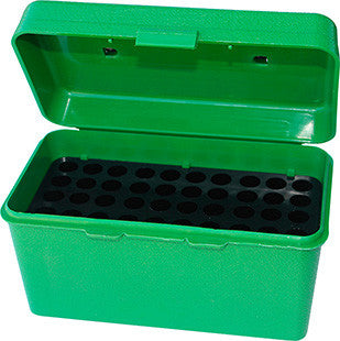 MTM H50RL10 H-50 50rd Lg Rifle Ammo Box w Handle Poly Green