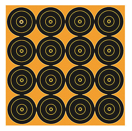 "Birchwood Casey 36225 Big Burst 12"" Sight-In Bullseye Self-Adhesive 25 Pack"