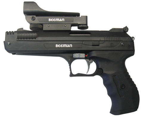 Beeman 2006 P17 Deluxe Air Pistol with Red Dot Scope .177 Pellet Post Front/Adj Rear Syn Grip/Frame