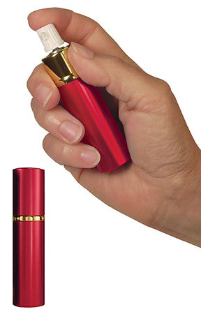 Eliminator LSPS14R Hot Lips Pepper Spray Lipstick Tube .75 oz Sprays 10ft Red