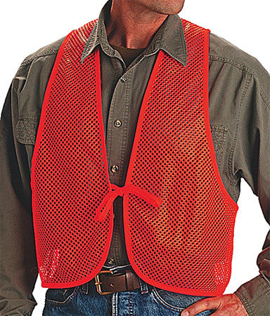 Allen 15750 Safety Vest Mesh One Size Fits All Polyester Blaze Orange