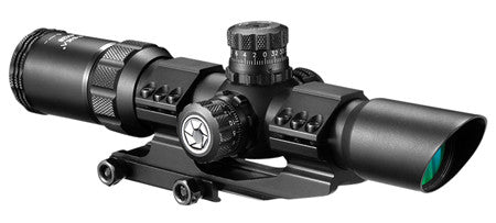 Barska AC11872 SWAT-AR 1-4x 28mm Obj 90-30 ft @ 100 yds FOV 30mm Tube Dia Black Matte Mil-Dot