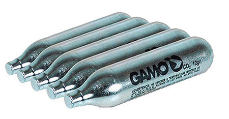 Gamo 621247054 CO2 Air Gun Cartridges 12 gram Silver