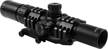 Aim Sports JTHR1 Recon 1.5-4x 30mm Obj 36.6 ft @ 100yds FOV 30mm Tube Dia Black Illuminated 3/4 Circ
