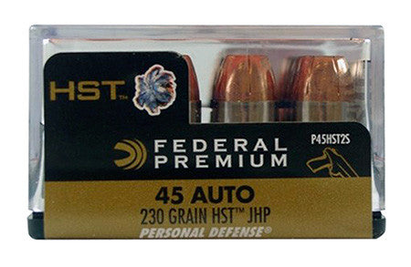 Federal P45HST2S Premium Personal Defense 45ACP JHP 230GR 20 Box/10 Case