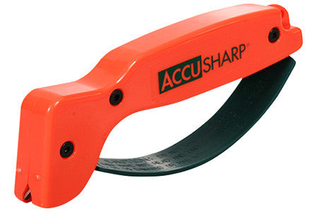 Accusharp 014C Blaze Orange Knife Sharpener Tungsten Carbide