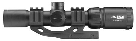 Aim Sports JTMR2 Recon 1.5-4x 30mm Obj 36.6 ft @ 100 yds FOV 30mm Tube Dia Black Matte Illuminated M